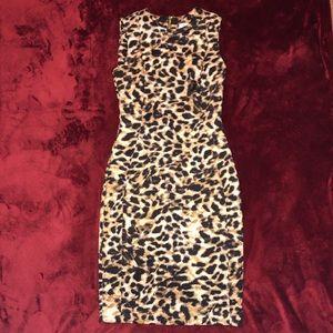 🐾Calvin Klein Leopard Print Dress